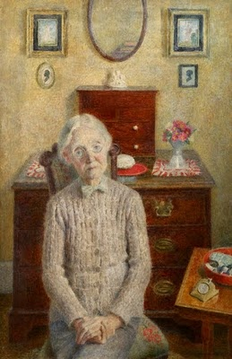 Aunt Lilla by Dod Procter (1890-1972), 1943