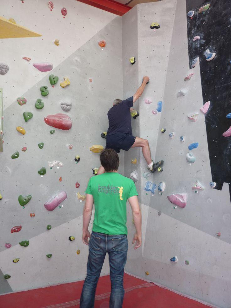 Indoor #rockclimbing with Blind Veterans UK.