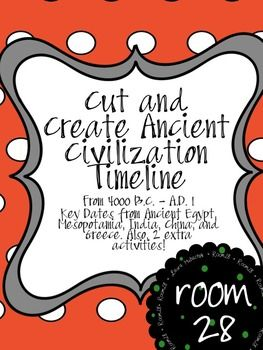 Cut and glue a variety of important dates and events from ancient Egypt, Mesopot…