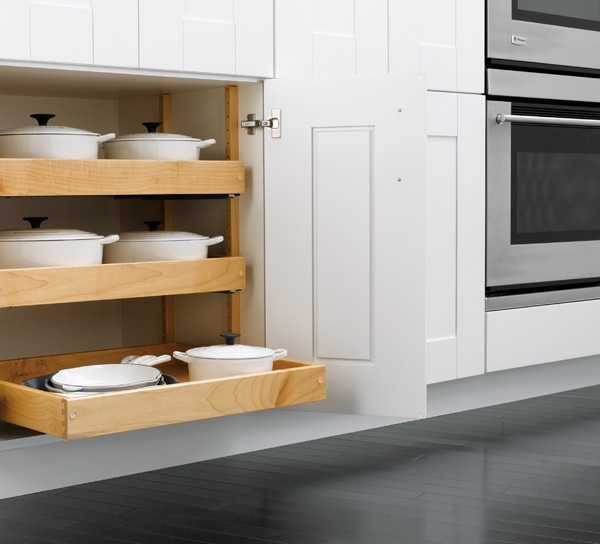 [Brock] Love the pull out bottoms. If we go with a cook top- would love this below the cook top.
