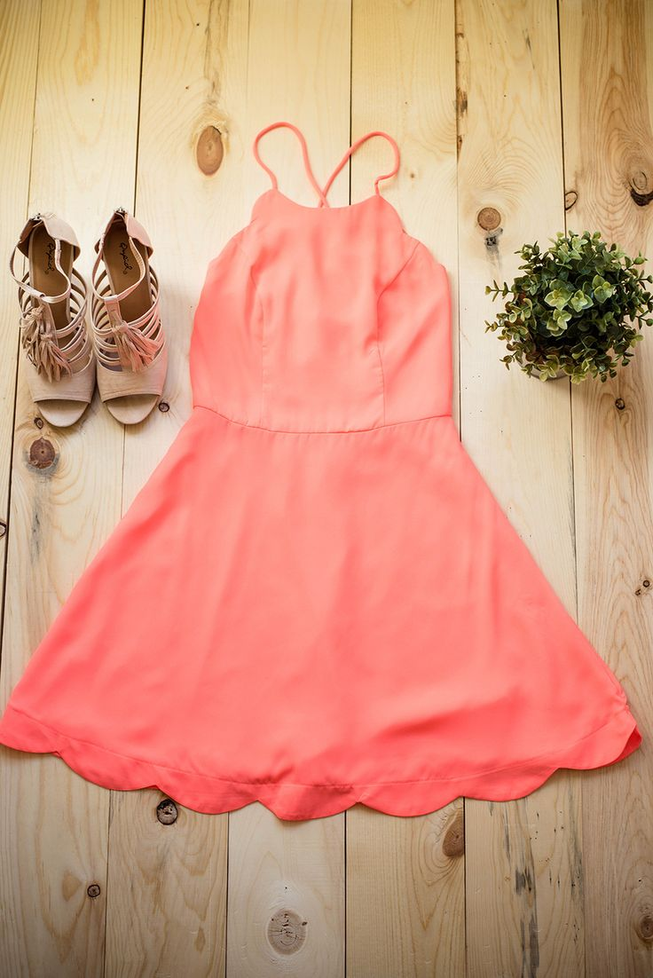 Cheers To You Little Neon Coral Dress