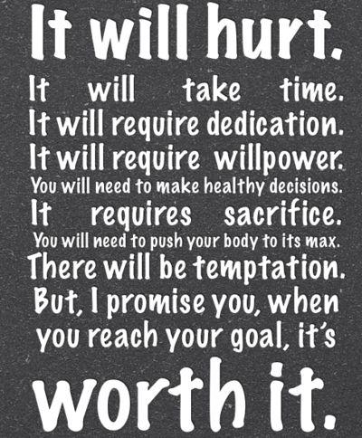 It's always worth it.