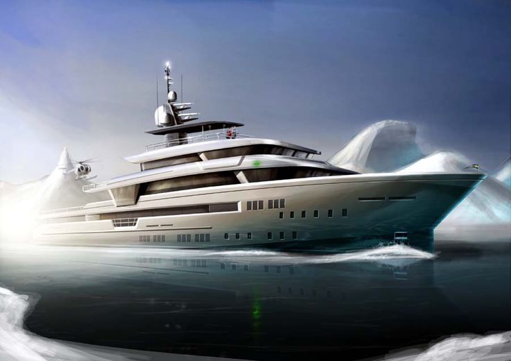 Preliminary concept design from Tony Castro of a 49m Expedition Yacht design is available.