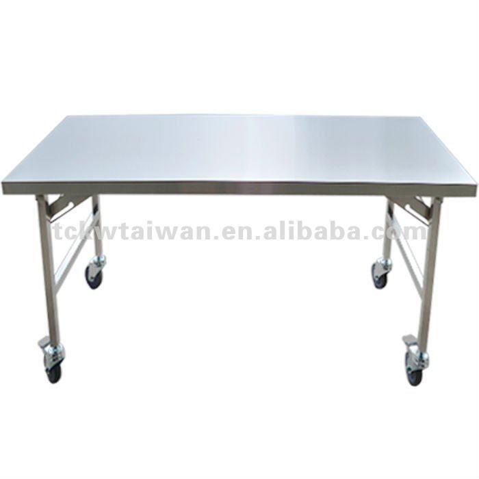 De acero inoxidable de mesa plegable odm trabajo de la - Mesa de trabajo cocina ...