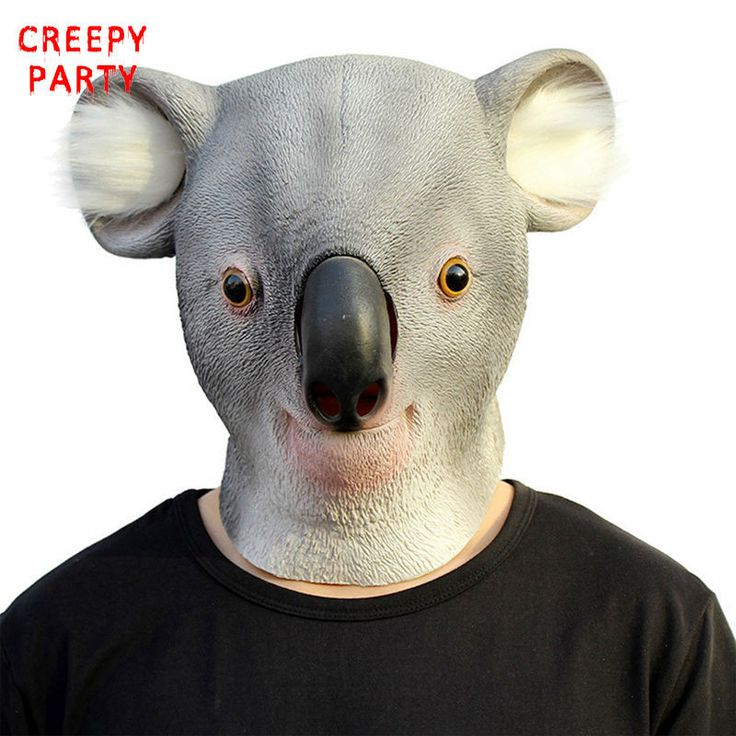 Latex Animal Party Mask Koala Full Face Adult Cosplay Mask Realistic Masquerade Fancy Dress For Party Masks Halloween
