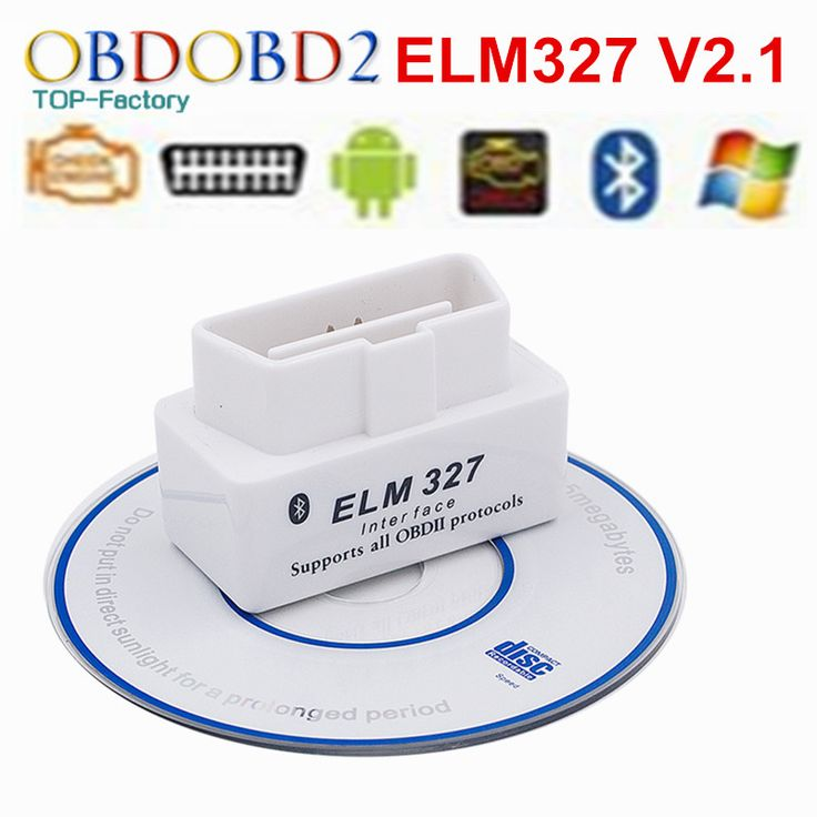Best Quality Super Mini ELM327 Bluetooth OBD2 OBDII ELM 327 V2.1 Car Diagnostic Tool Scanner Works On Android Symbian Windows