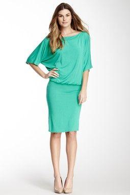 Short Sleeve Blouson Dress