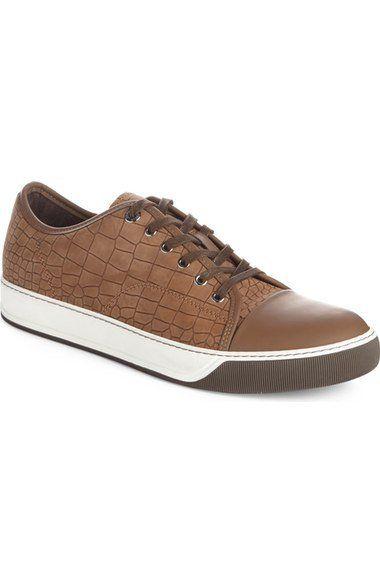 Embossed Nubuck Low Top Sneaker