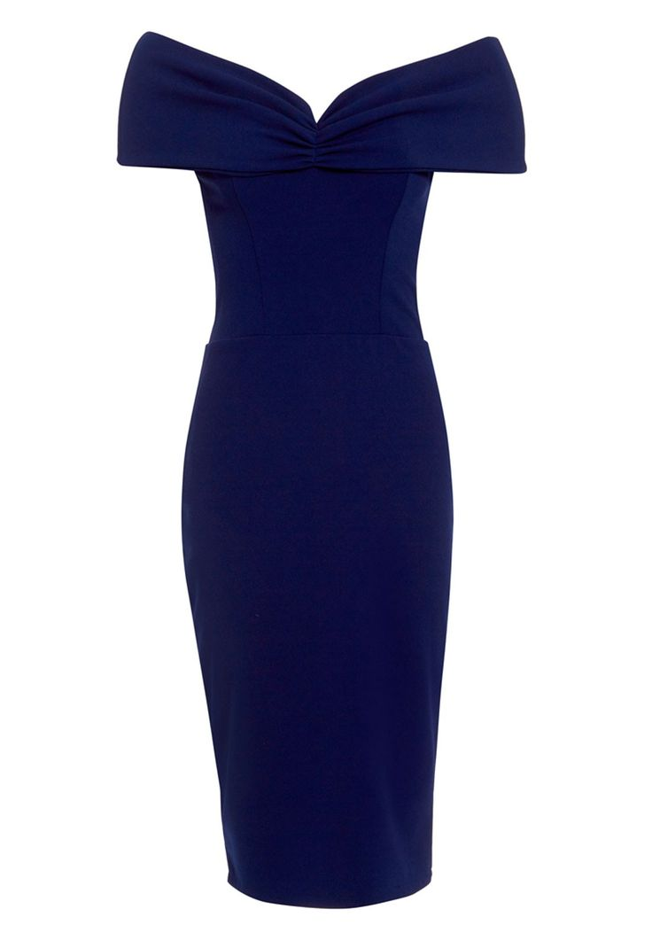 Honor Gold Mila Midi Dress in Navy - Wedding Guest Dresses - Occasions