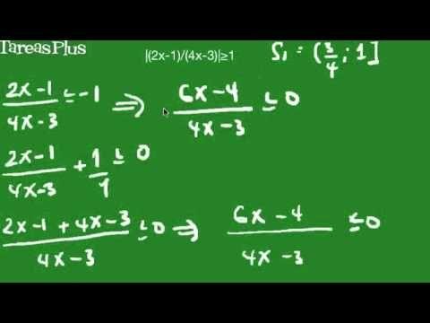 Solución desigualdad valor absoluto con función racional