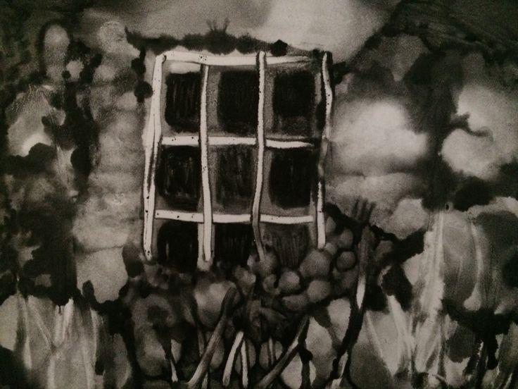 Jo Hannah. Window 4. Monoprint.
