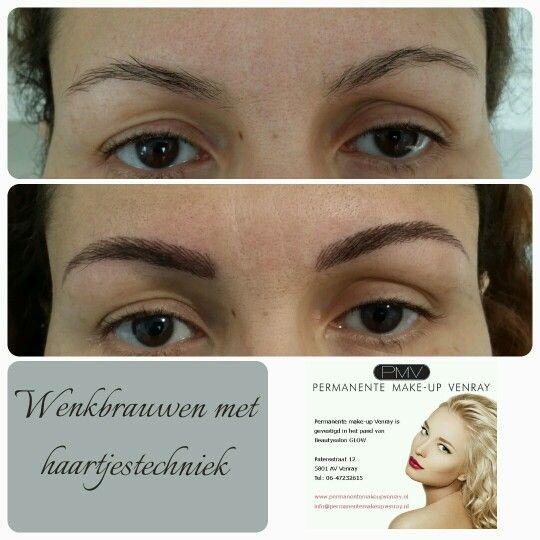 Haartjestechniek door Nathalie Rozema, Permanente make up venray.nl