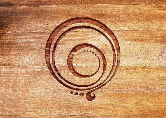 Gratitude Symbol Brand...Custom Brand Your Journal, Sketchbook, Mug, or Wallet