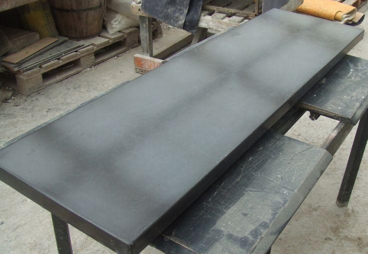 Black polished concrete top 2