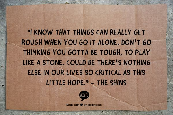 """""""Simple Song""""- The Shins"""