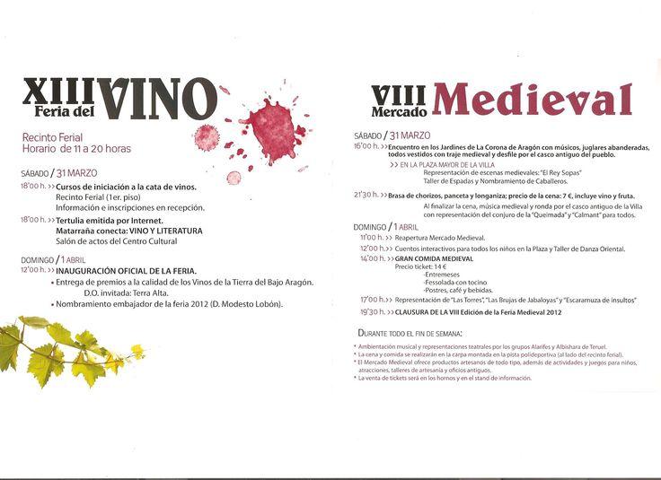 Ferias en el Matarraña: Feria del Vino y Medieval en Cretas.