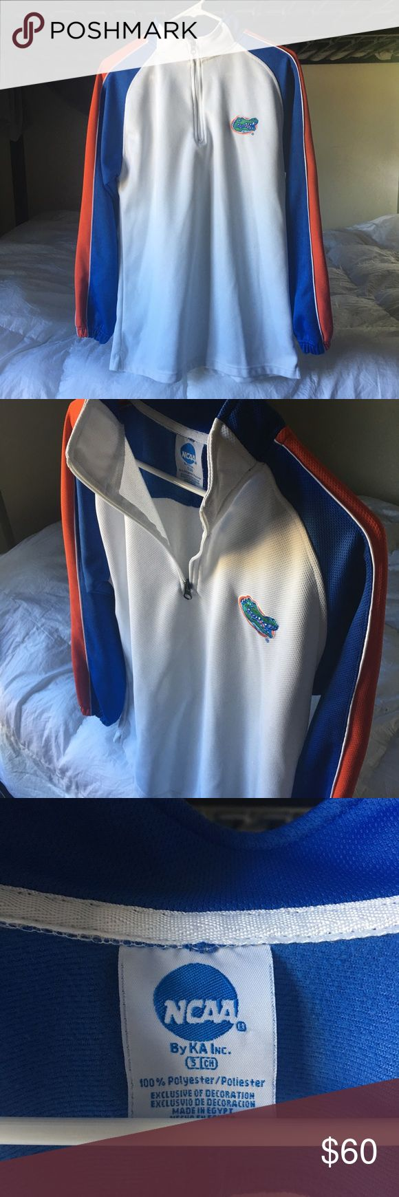 Quarter zip Florida Gator jacket Blue, orange, white quarter zip jacket. NCAA Jackets & Coats