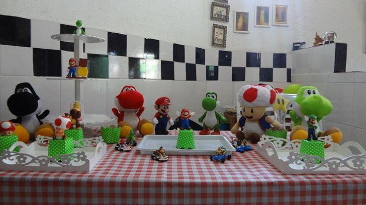 """""""Preparando a mesa #MarioParty"""""""