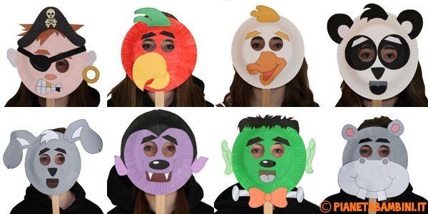 30 Idee per Maschere di Carnevale con Piatti di Carta