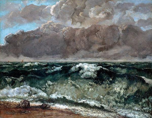"Gustav Courbet, ""La vague"""
