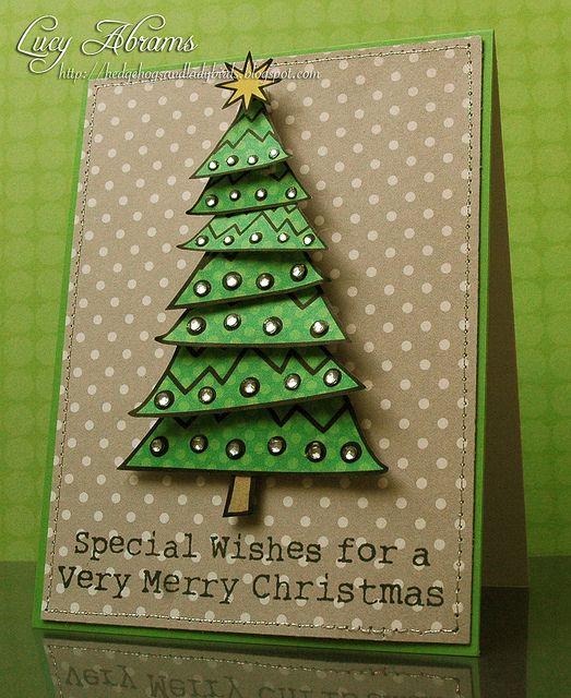 Handmade Christmas Card ... Clean Country Look ... Polka