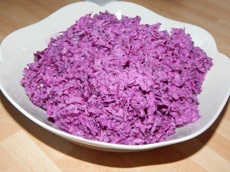 Gyors lilakáposzta saláta recept