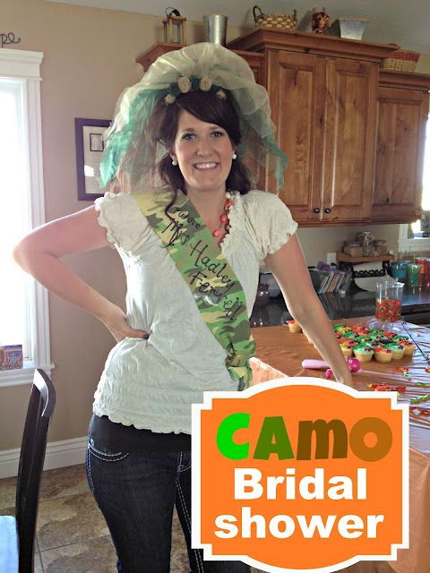 Camo bridal shower! Only I'd do it prettier. Maybe Camo and Pink, eh?