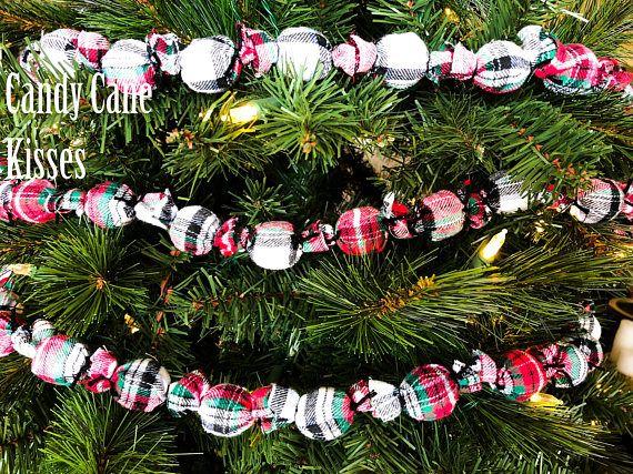 Plaid Garland, 8 Feet Long, 1 Inch Balls, Ornament