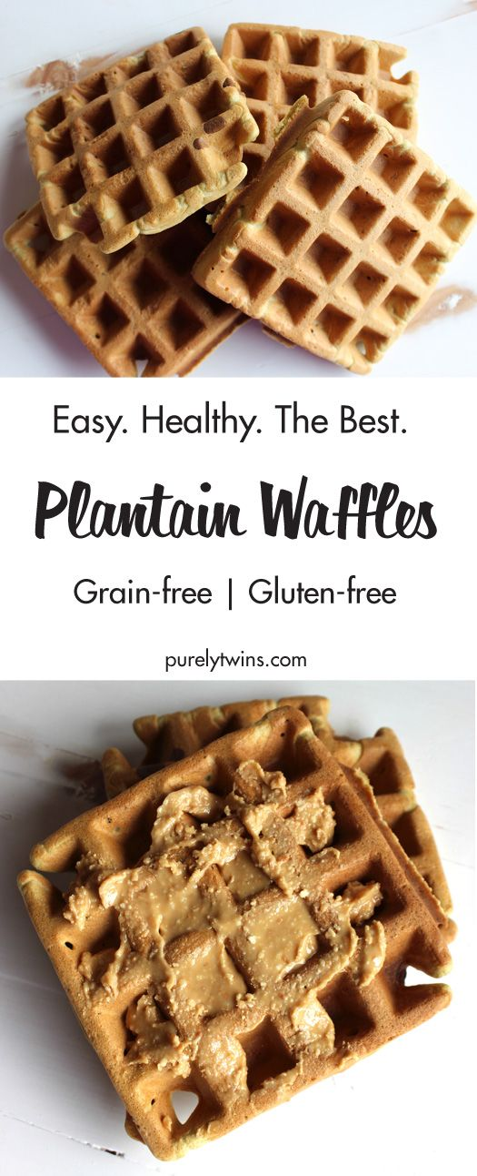 Easy healthy waffle recipe. The ONLY recipe you will ever need. It's so easy to make and NO flour. These waffles are made from plantain and eggs. Gluten-free. Grain-free. Paleo. NUT free.