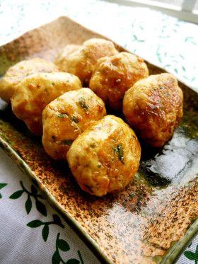 Chicken and Hanpen Tsukune 簡単!大葉の香♡鶏とはんぺん照りつくね♡
