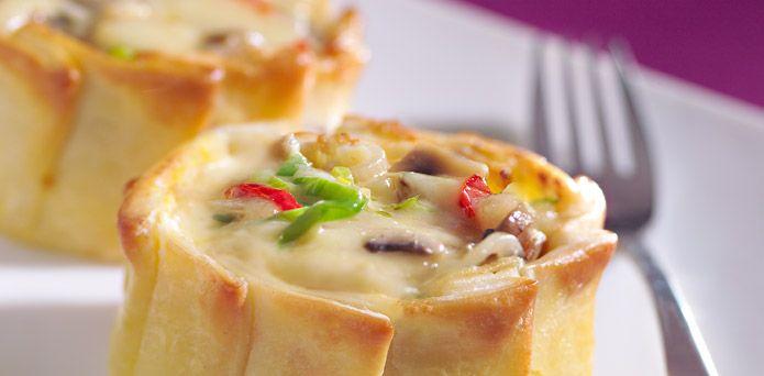 La Salteña Recetas. Canastitas Gourmet de Champignones.