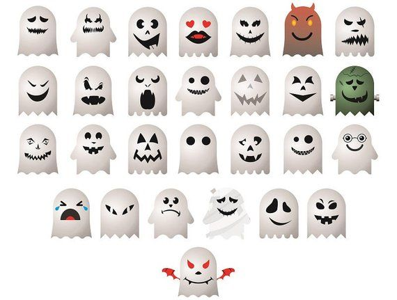 28 Halloween Ghost Emoji Ghost Face Monster Faces Clipart Etsy Ghost Faces Scary Faces Pumpkin Carvings Stencils