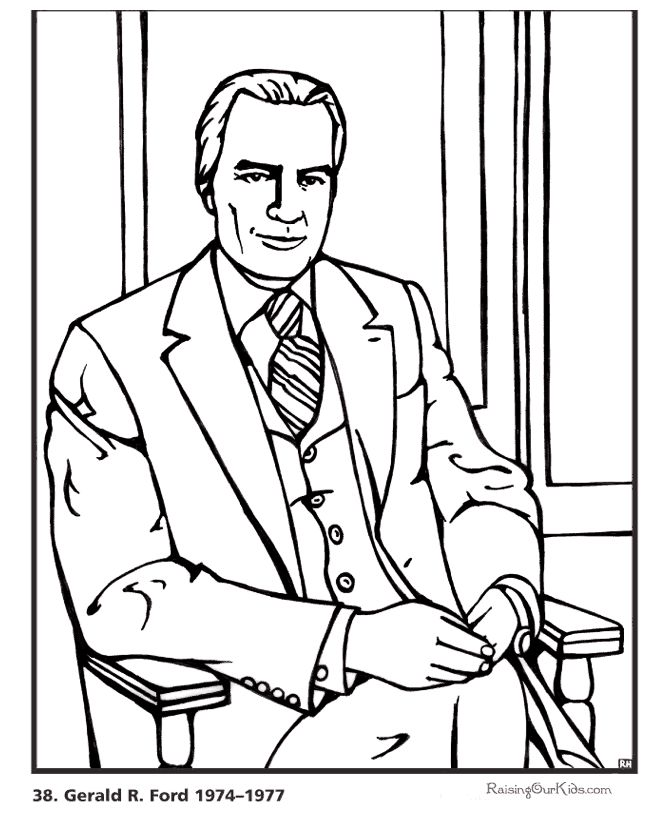 You Cant Have Enough Gerald R Ford Coloring Book Pages Here Is Free Printable President George W Bush