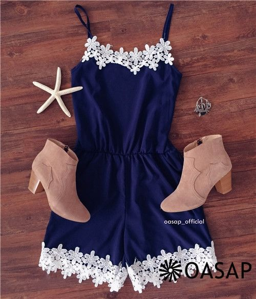 Fetching Halter Sleeveless Lace Rompers