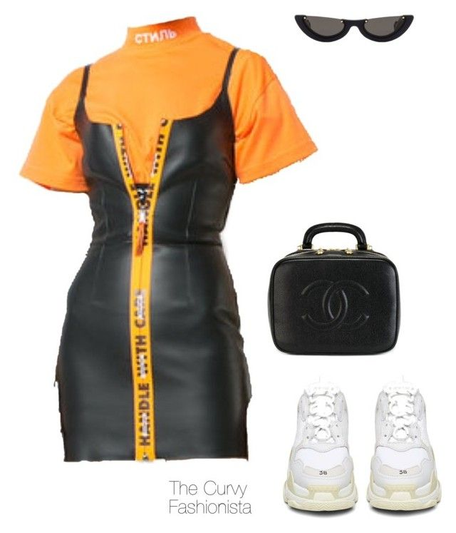 """""""Untitled #1215"""" by thecurvyfashionistaa ❤ liked on Polyvore featuring PAWAKA, Chanel and Balenciaga"""