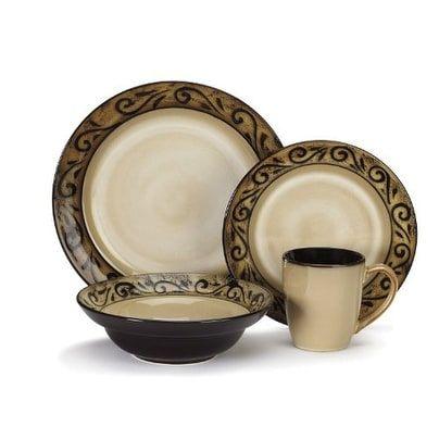 Cuisinart 16-Pc Isere Stoneware Dinnerware 16-pc Dinnerware Set