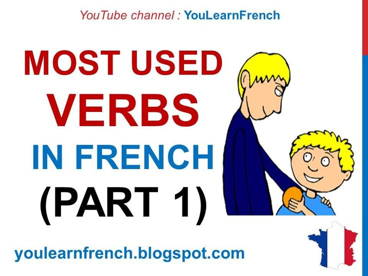 French Lesson 231 - 100 Most common verbs in French PART 1 Most used bas...