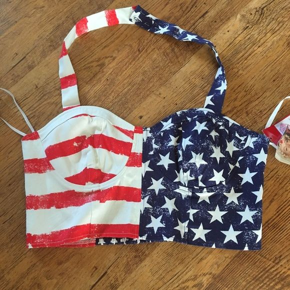 4th of july halter tops
