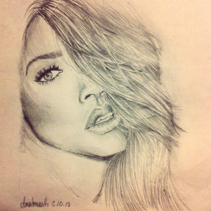 rihanna portrait by me~