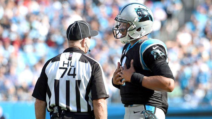 Cam Newton doesn't get superstar QB treatment from NFL officials
