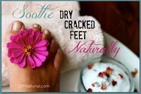 Dry Cracked Feet Can Be Soothed Naturally in 3 Easy Steps – Dry, cracked feet can drive you crazy! But worry no longer - you can soothe them fast and naturally using these homemade foot scrub and foot cream recipes.