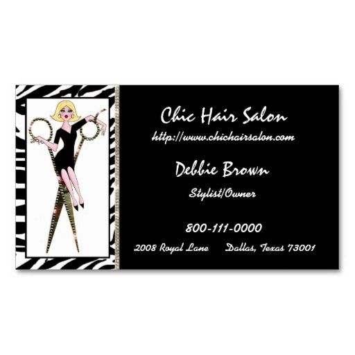 52 best business cards chic images on pinterest business card chic hair salon business cards colourmoves Choice Image