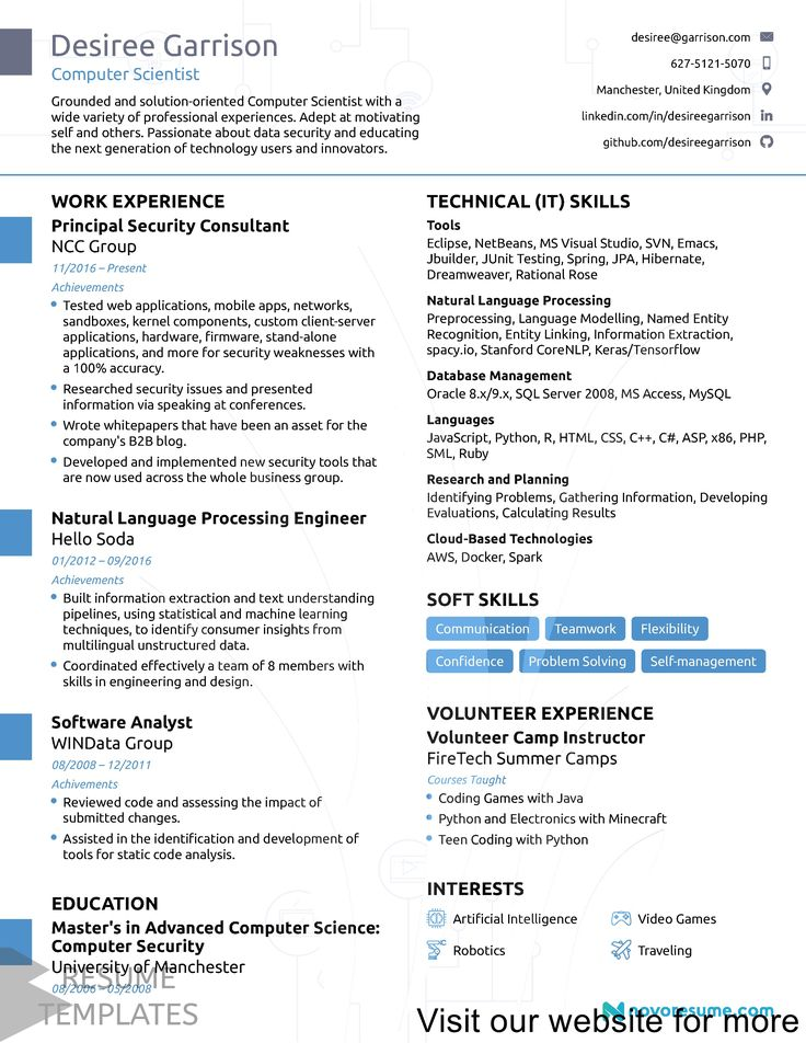 architect resume sample Professional in 2020 Computer