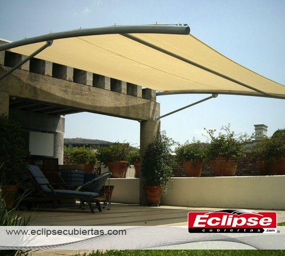Toldo para terraza en malla sombra toldos mallasombra for Estructuras para toldos