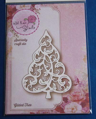 Wild Rose Studio 'Gilded Tree' Christmas Die SD059 | Craft-House