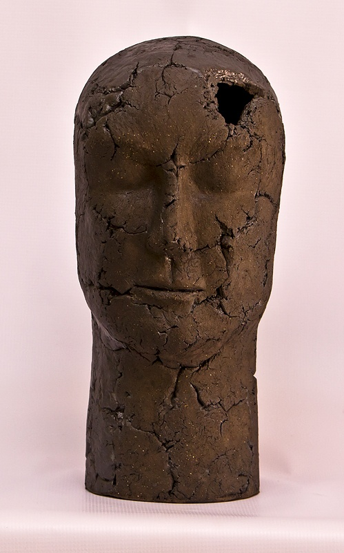 Sculpture in Basalt clay fired to earthenware