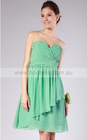 Zipper Knee-length Natural A-line Chiffon Formal Dresses b1400021