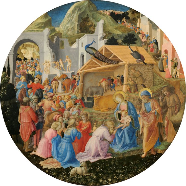 Fra Angelico and Fra Filippo Lippi The Adoration of the Magi c. 1440/1460, National Gallery of Art, Washington DC, USA.