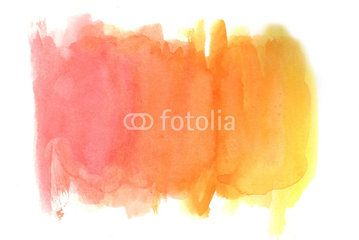 Yellow-red grunge in watercolor