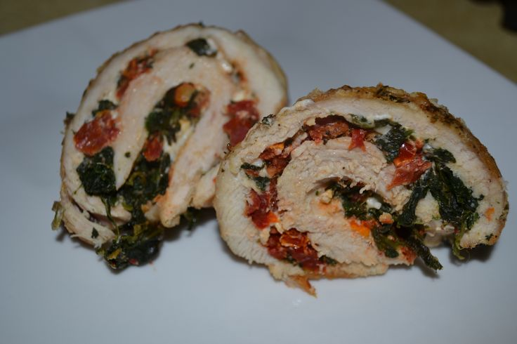 Chicken breasts can be so blah.  I don't know about you, but there's only so many grilled chicken breasts I can take before I start going batty. Sometimes you gotta switch things up to make them interesting again!  These chicken roulades are a great way to do that!  Chicken roulade is a fancy way of …